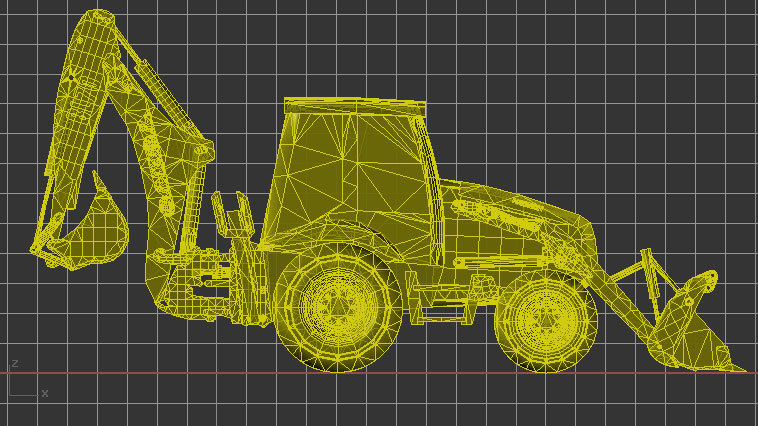 backhoe loader 3d 3dm