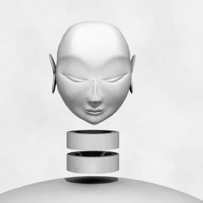 3d obj bouddha s head