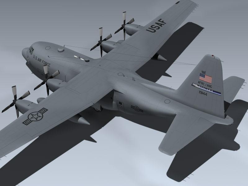 c-130h cargo plane 3d model