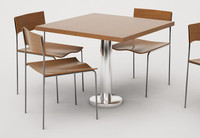 chair tables cafe 3d model