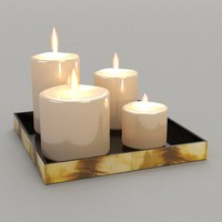 candle tray 3d 3ds