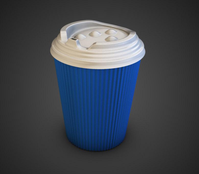 obj takeaway coffee cup