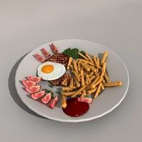 food plate obj