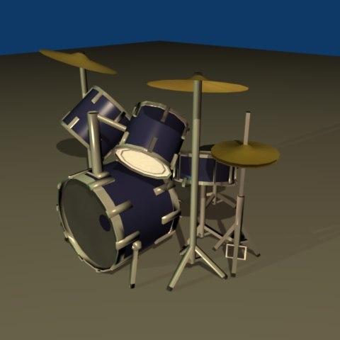 drumkit ready 3d 3ds