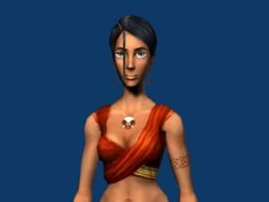 farah female hero 3d model