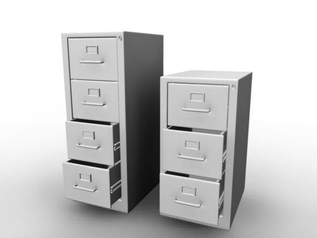 filing cabinets 3d model