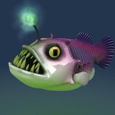 goose goosefish fish 3d max