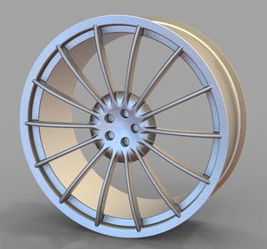 car rim gt 3d model