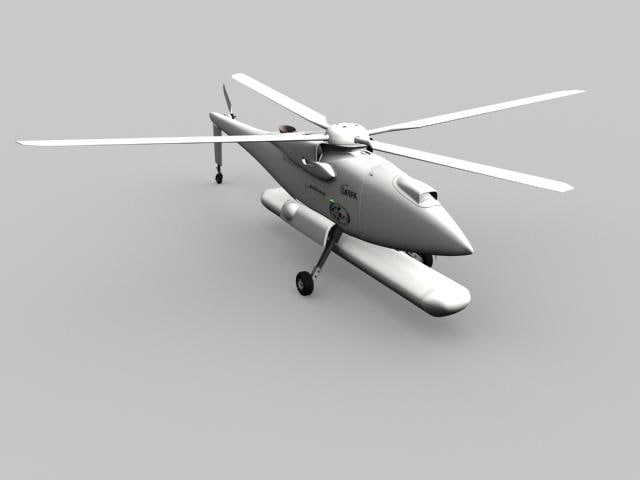 hummingbird a160t helicopter 3d model