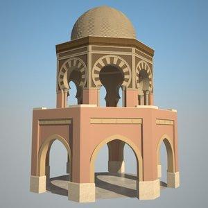 3d model islamic octagonal building
