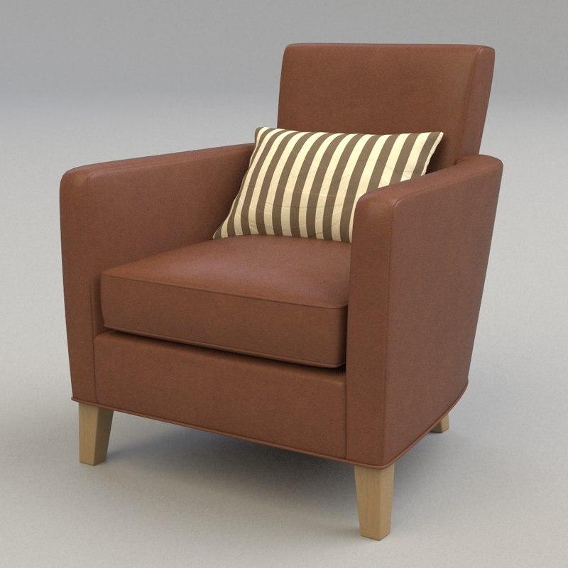 3d model club chair liaigre