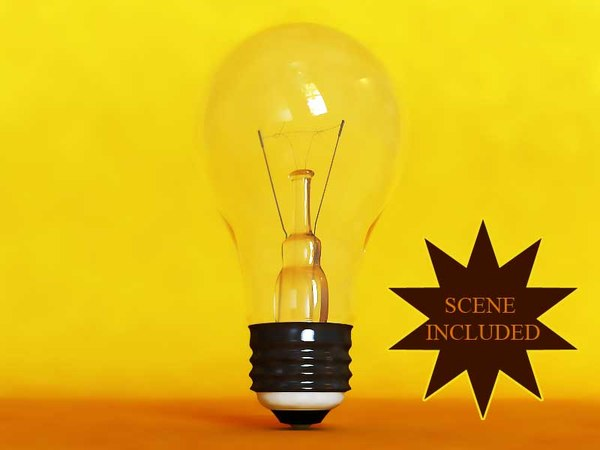 3d bulb light glass soft