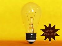 3d bulb light glass soft