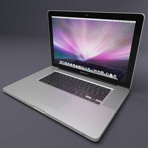 17 inch macbook pro 3d model