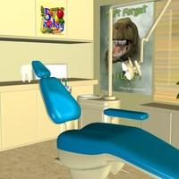 dental office chair 3d model