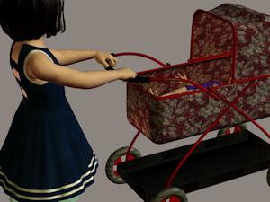 free pram kids4 3d model