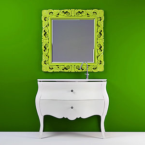 3d mirror washbasin concept