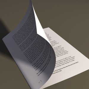 page turning animation 3d max