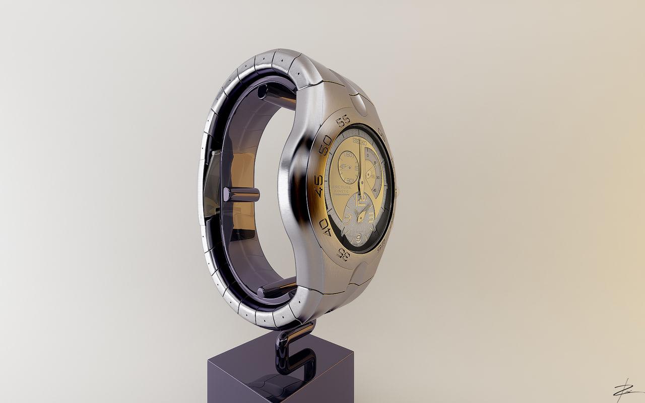 seiko arctura kinetic 3d model