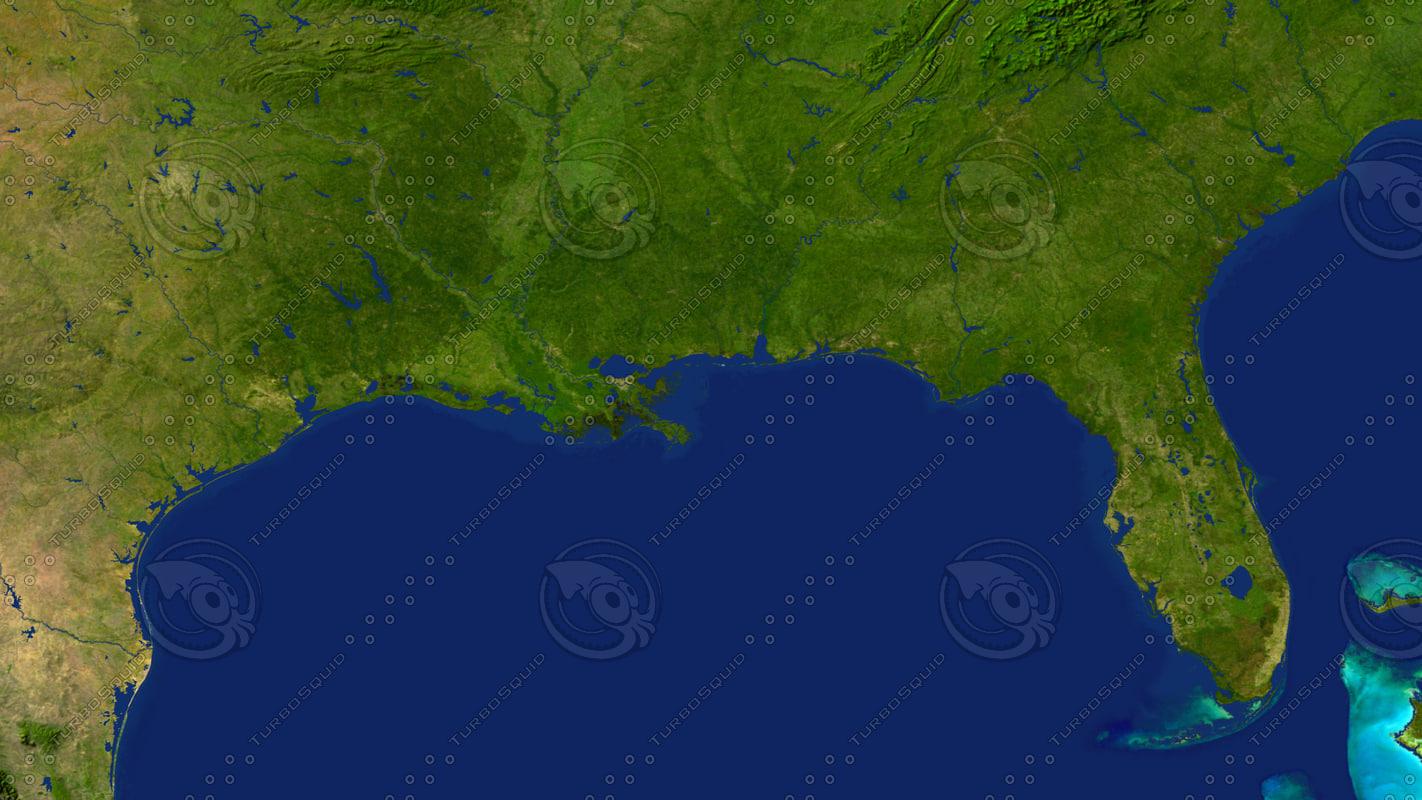 3d usa south coast model