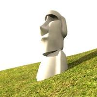 moai easter island 3d model