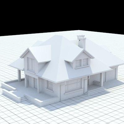 single-family house 3d model