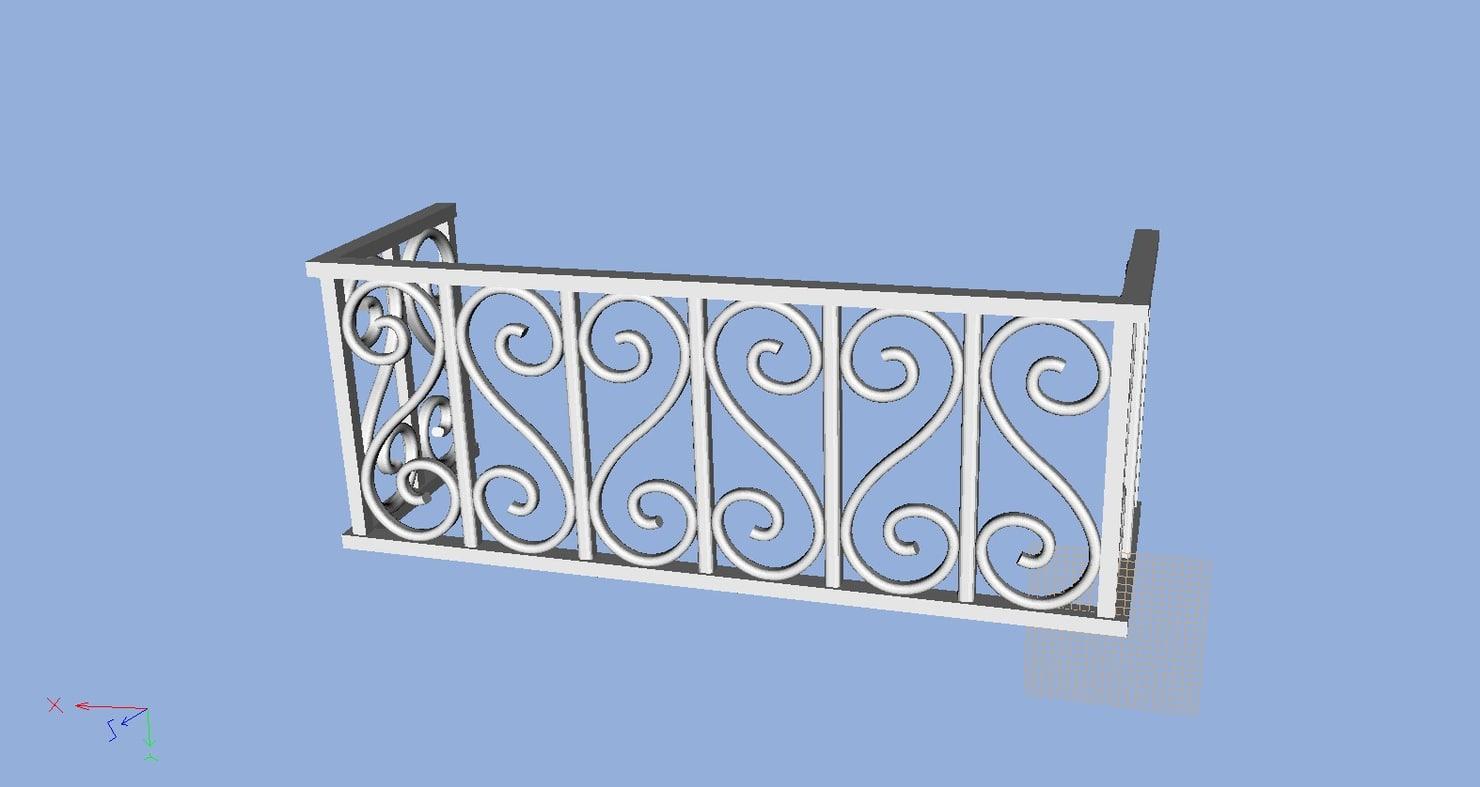 railing balcony obj