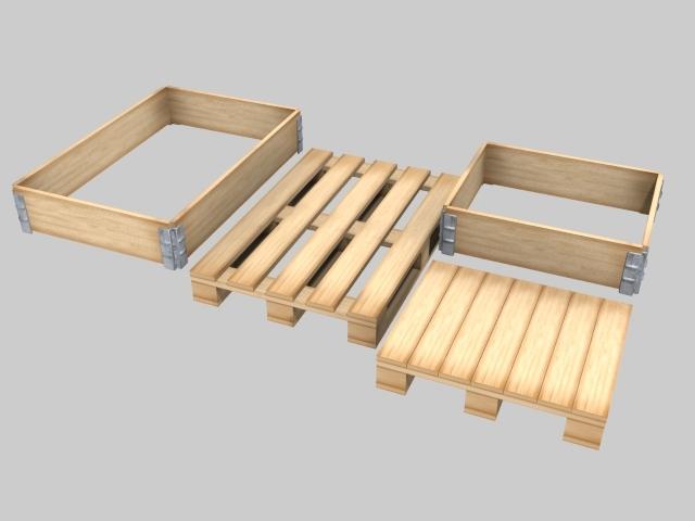 pallets collars 3d model