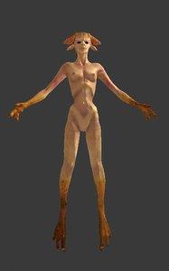character monster demon 3d model