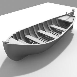 yawl endeavour bark 3d model