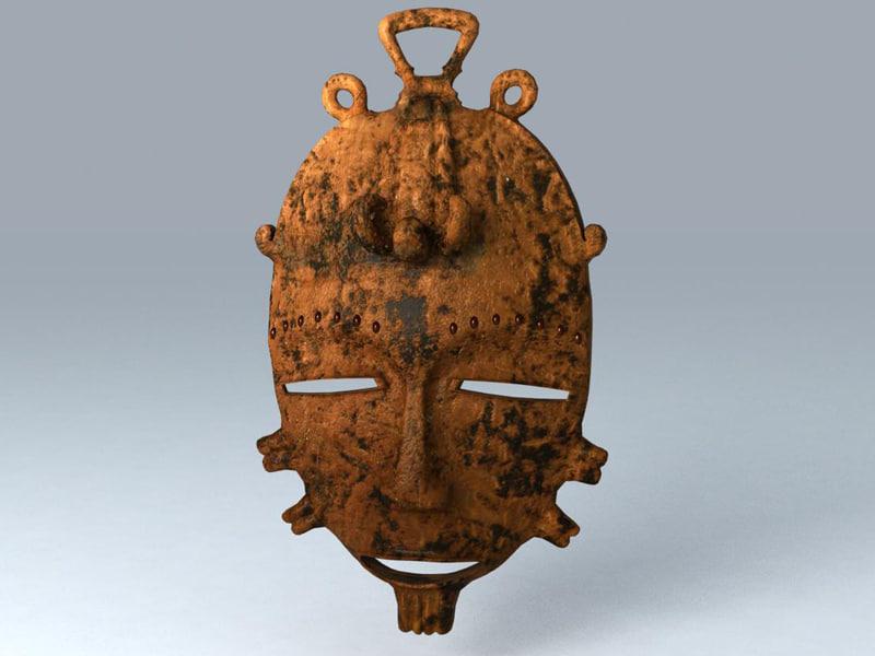 3d african mask model