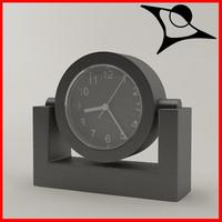 3d model of clock rendered
