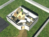 c4d house furnished