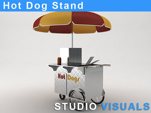 hot dog stand 3d model