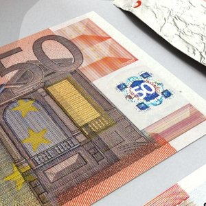 50 euros banknote - 3d model