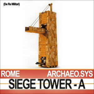 3d roman legionary siege tower