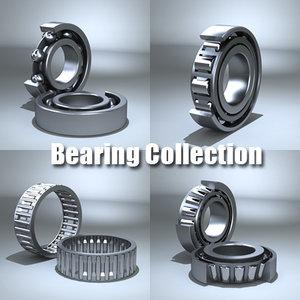 bearings ball roller 3d model