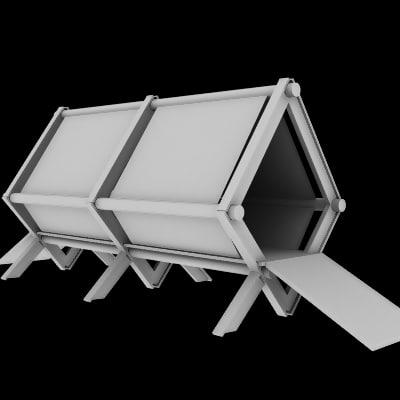 bridge town 3d model