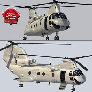 ch-46 sea knight 3d model