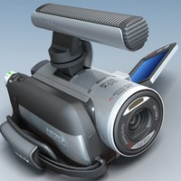 camcorder sony dcr-sr100e 3d model