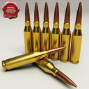 .338 lapua cartridge 3D models
