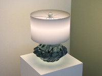 crystal based table lamp max