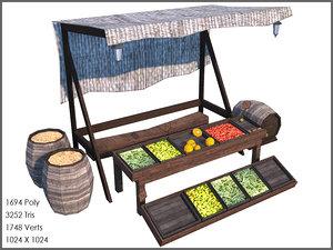 fruit stall 3d model