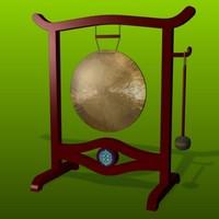3d brass gong model