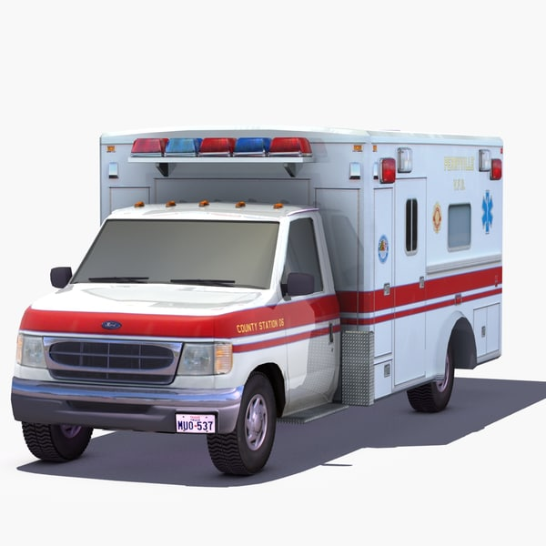 e350 ambulance 3d 3ds