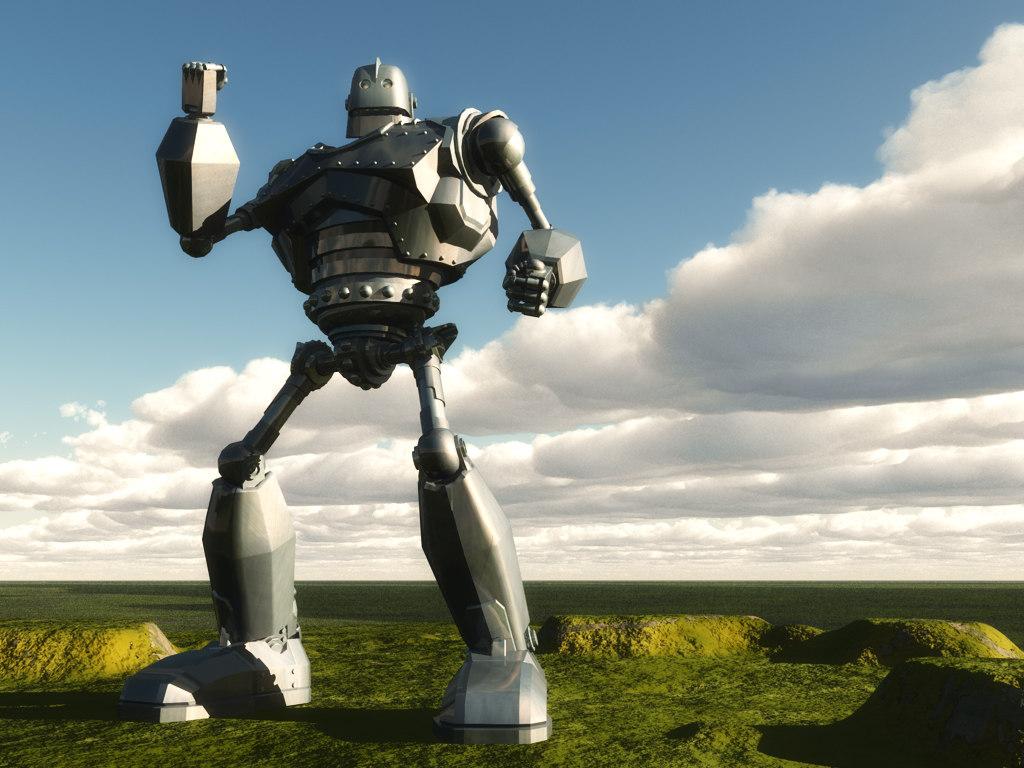 3d super robot iron man model