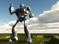 Iron Giant Robot Man of War
