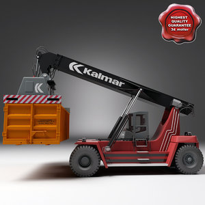kalmar reach stacker v2 3d model