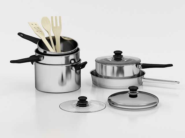 pan pot 3d model