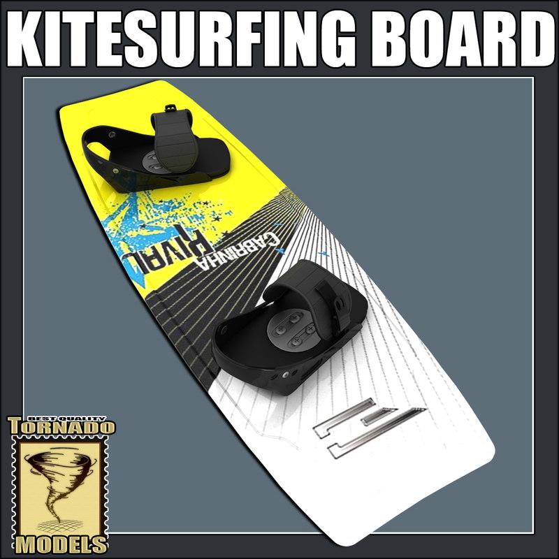 3d kitesurfing board model